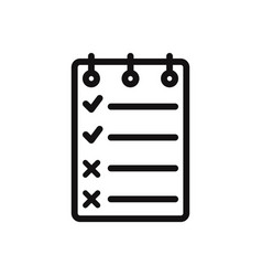 checklist icon to do symbol vector image