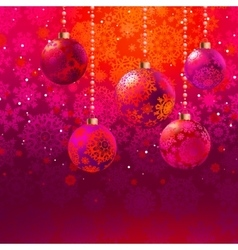 Christmas background with baubles EPS 8 vector image