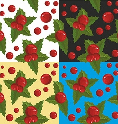 Christmas Berry Wallpaper vector