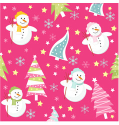 christmas pink card vector image