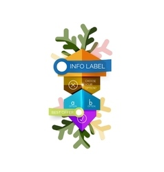 Christmas sale info banner vector image