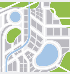 City map with streets highways and areas gps vector