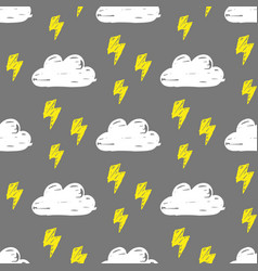 Clouds lightning pattern vector