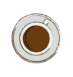 Coffee cup beverage plate vector