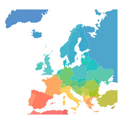 colorful map europe continent vector image
