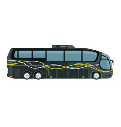 Contemporary tourist bus in grey color isolated vector