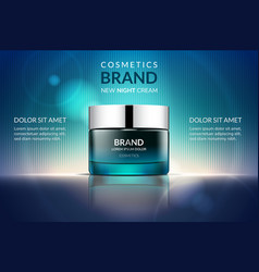 cosmetic cream ads vector image