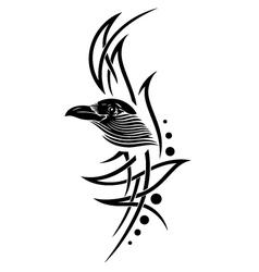 Crow raven vector image