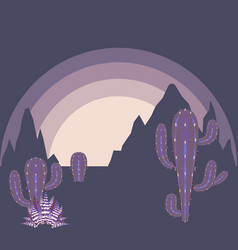 Desert twilight landscape vector