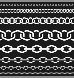 different scale chains protection seamless vector image
