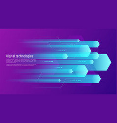 digital information technologies networking data vector image