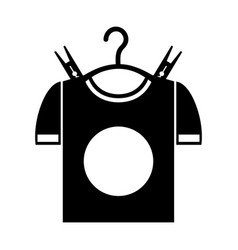 drying hook with shirt laundry icon vector image