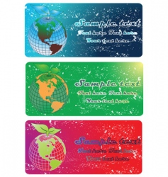 earth globe banners vector image