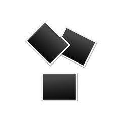 empty polaroid photo frames icons set vector image