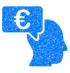 euro businessman idea icon grunge watermark vector image