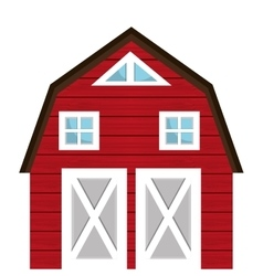 Farm barn building isolated icon vector