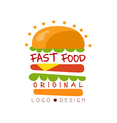 fast food logo original design badge with vector image