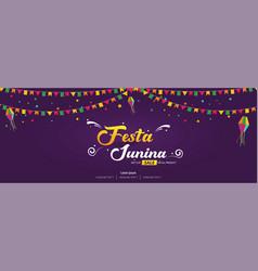 Festa junina brazilian festival cover banner vector