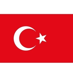 Flag of Turkey in correct proportions and colors vector