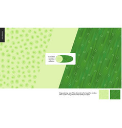 Food patterns vegetable cucumber vector