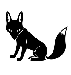 fox silhouette vector image