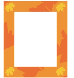 frame autumn vector image