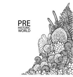 graphic prehistoric plants vector image