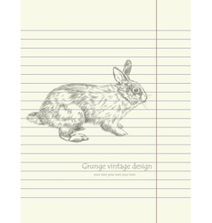 Hand drawing sketch rabbit vector image
