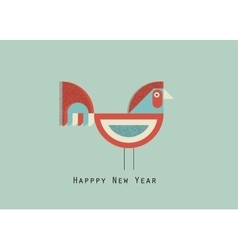 happy new year cock vector image