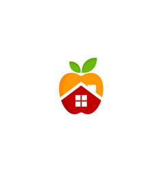 home fruit logo icon design vector image