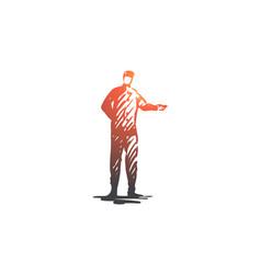 hotel service doorman uniform janitor concept vector image