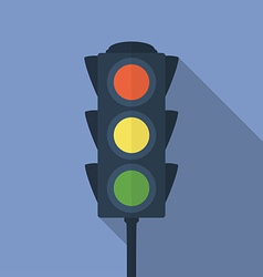 Icon of traffic light Flat style vector