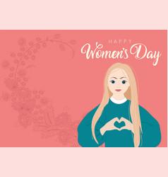 International womens day greeting design vector