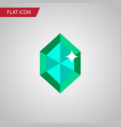isolated gem flat icon crystal element can vector image vector image