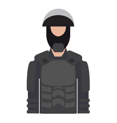 isolated male police elite force avatar vector image