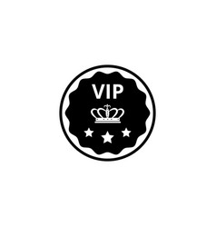 isolated vip badge icon with crown symbol and tree vector image