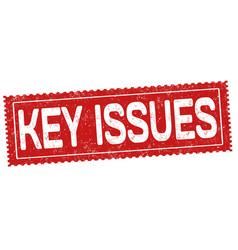 Key issues sign or stamp vector
