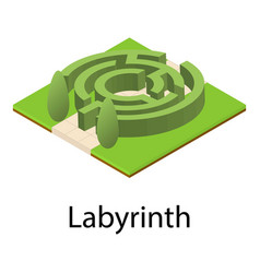 Labyrinth icon isometric style vector