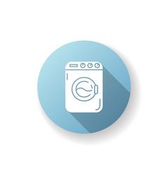 Laundromat blue flat design long shadow glyph icon vector