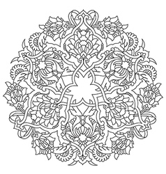 Lines artistic ottoman pattern series fifty five vector