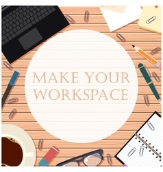 Make your workspace banner8 vector image