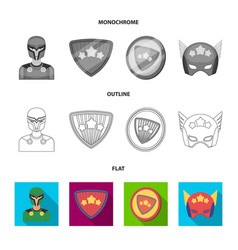 Man mask cloak and other web icon in flat vector