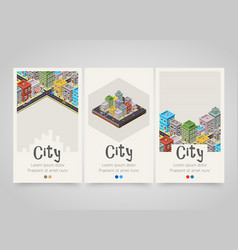 modern colorful vertical city banners map or vector image