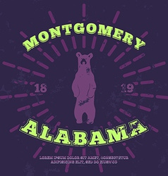Montgomery Alabama grunge on separate layer vector image