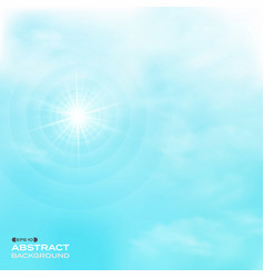 Nature of clouds set on blue sky pattern vector