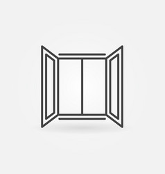 open window outline concept simple icon vector image