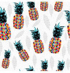 pineapple summer color pattern background vector image