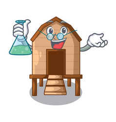 Professor chicken coop isolated on a mascot vector