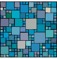 Random squares background vector