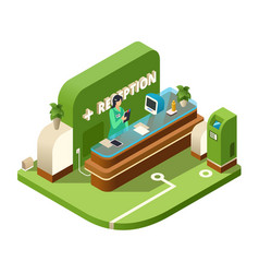Reception isometric cross vector